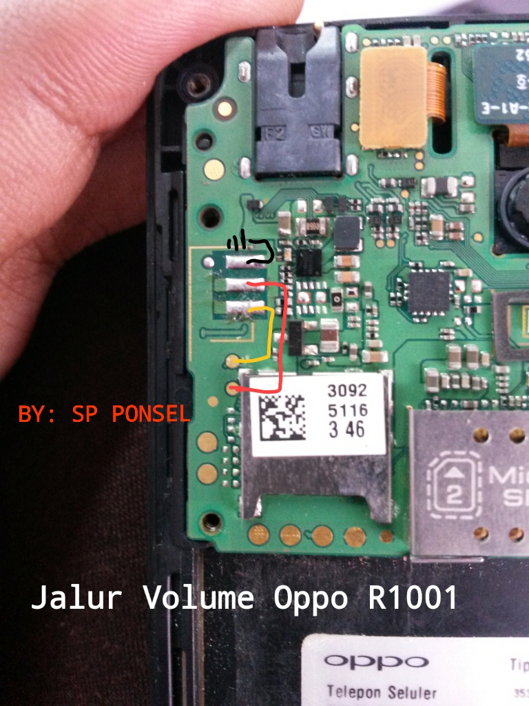 Solusi Jalur On Off Dan Volume Oppo R1001