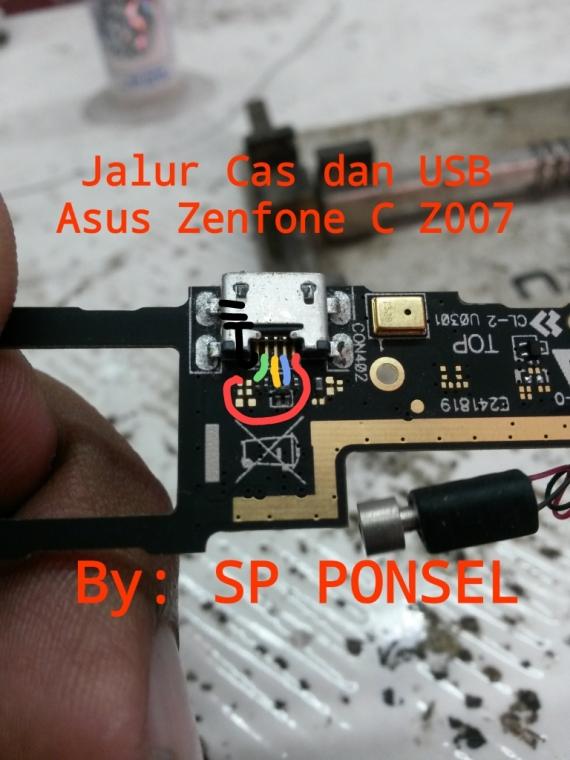 Solusi Jalur Cas Dan Usb Pada Asus Zenfone C Z007