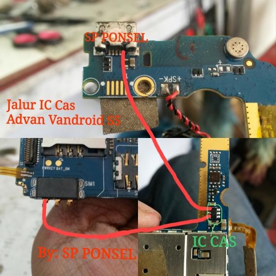 Solusi Jalur Ic Cas Pada Advan Vandroid S5e