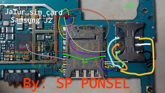 Solusi Jalur Sim Card Samsung Galaxy J2 Insert Sim