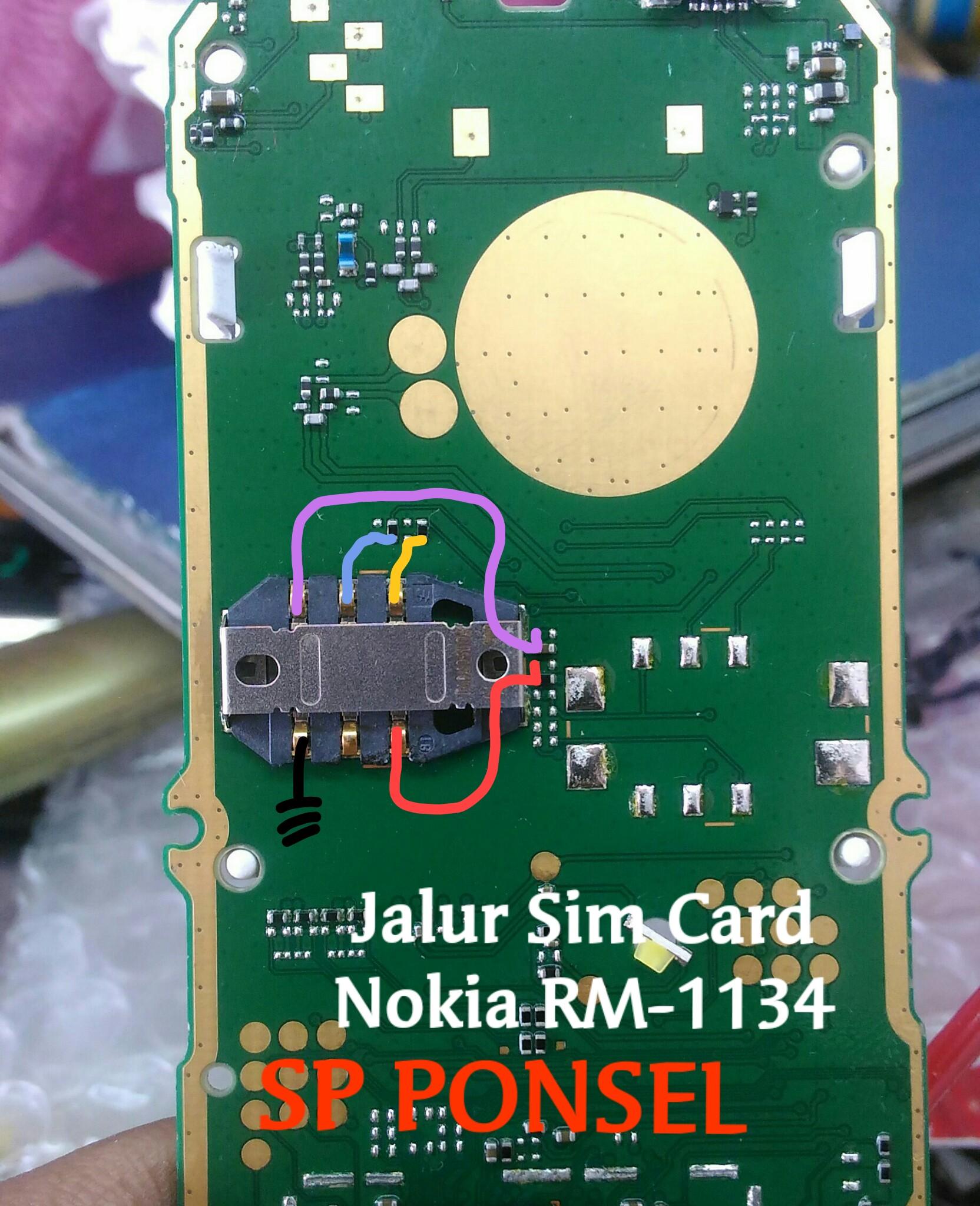 Solusi Jalur Sim Card Nokia 105 New Rm
